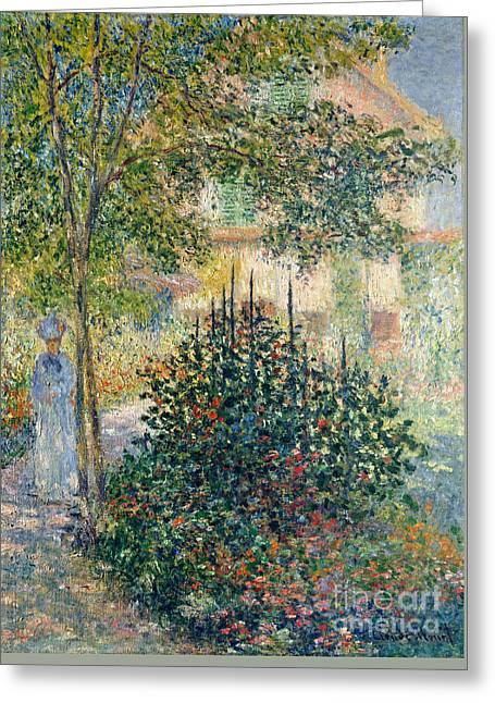 Camille Monet In The Garden At The House In Argenteuil Greeting Card