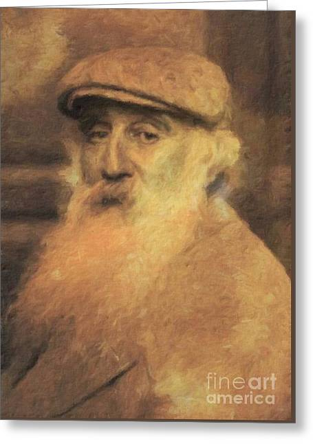 Camille Pissaro, Artist By Mary Bassett Greeting Card