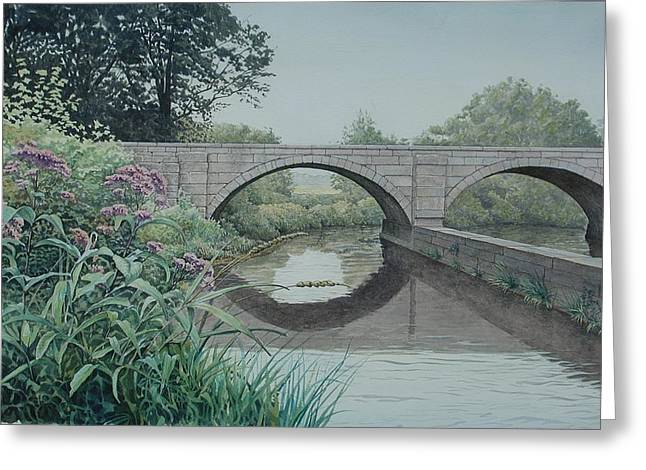Camillus Canal Greeting Card by Stephen Bluto