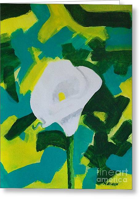 Camo Calla Lilly Greeting Card by Marsha Heiken