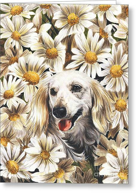 Greeting Card featuring the drawing Camoflaged by Barbara Keith