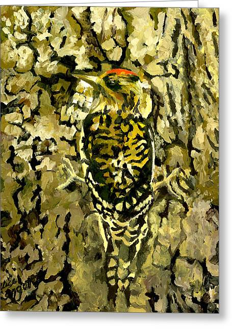Camouflage Greeting Card by Alice Leggett