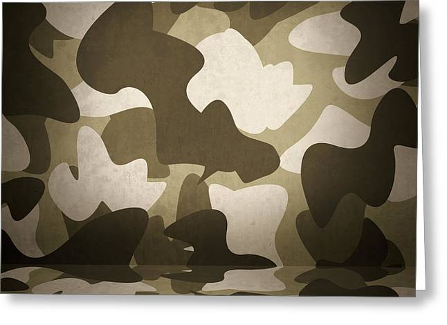 Camouflage Military Interior Background Greeting Card by Jorgo Photography - Wall Art Gallery