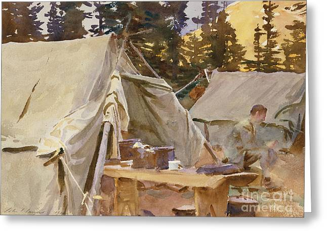 Camp At Lake Ohara, 1916 Greeting Card