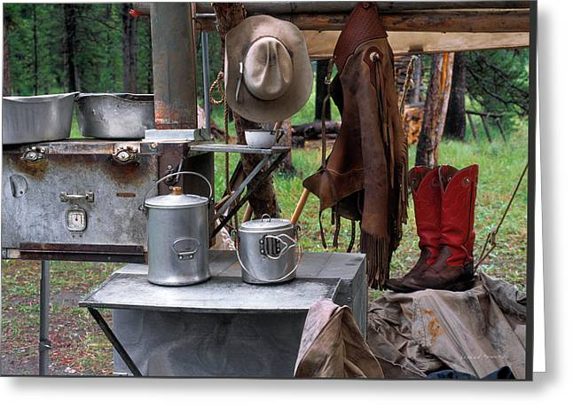 Camp Kitchen Greeting Card by Leland D Howard