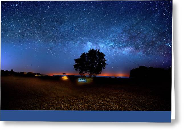 Greeting Card featuring the photograph Camp Milky Way by Mark Andrew Thomas
