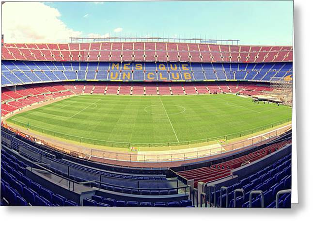 Camp Nou Greeting Card by Joan Escala
