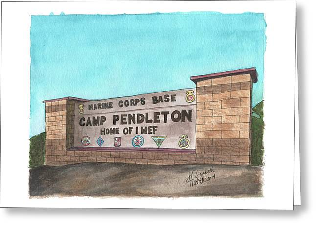 Camp Pendleton Welcome Greeting Card