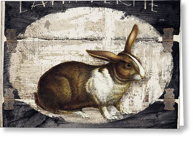 Campagne Iv Rabbit Farm Greeting Card by Mindy Sommers
