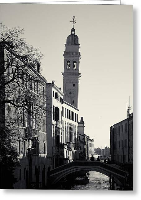 Campanile, San Giorgio Dei Greci, Venice, Italy Greeting Card