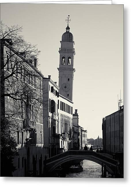 Greeting Card featuring the photograph Campanile, San Giorgio Dei Greci, Venice, Italy by Richard Goodrich