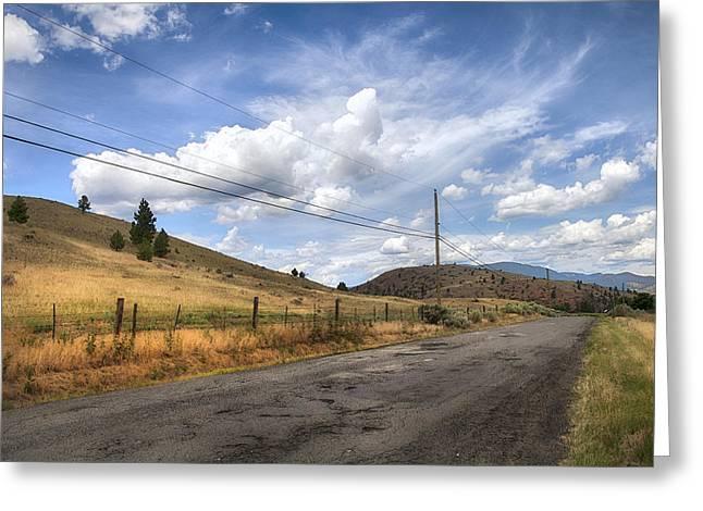 Campbell Creek Rd Landscape Greeting Card by Theresa Tahara