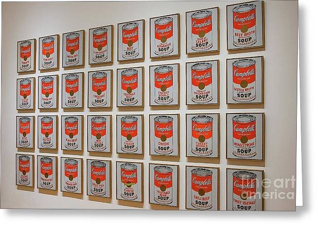 Greeting Card featuring the photograph Campbell Soup By Warhol by Patricia Hofmeester