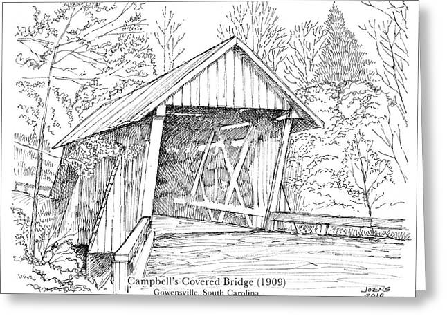 Campbell's Covered Bridge Greeting Card by Greg Joens