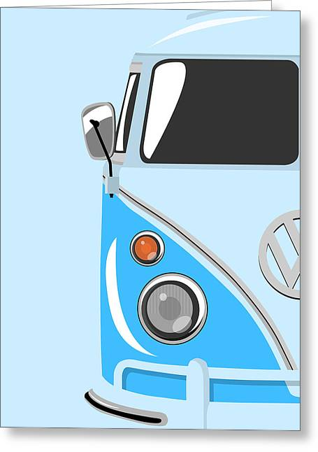 Camper Blue Greeting Card