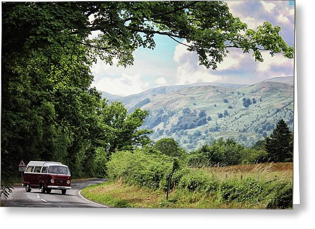 Camper Travels Greeting Card by Martin Newman