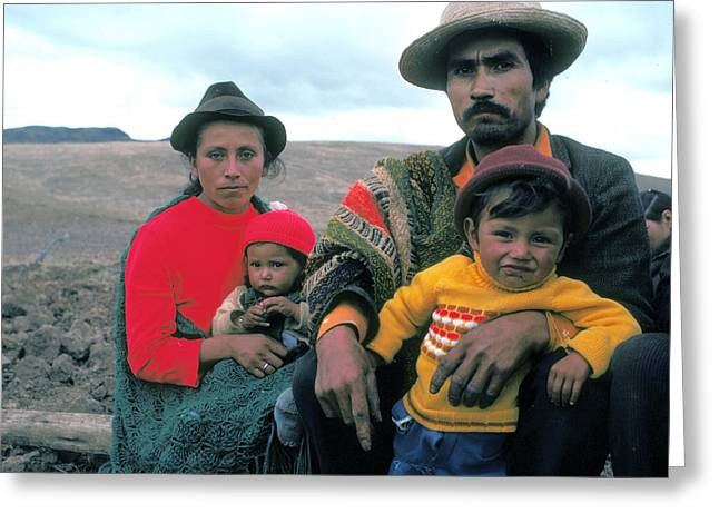 Campesino Family In Columbia Greeting Card