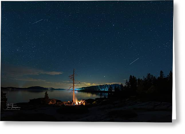 Greeting Card featuring the photograph Campfire 1 by Jim Thompson