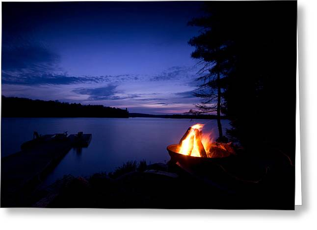 Algonquin Greeting Cards - Campfire Greeting Card by Cale Best