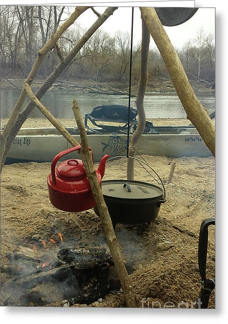 Campfire Chili On A Cold Winter Day Greeting Card