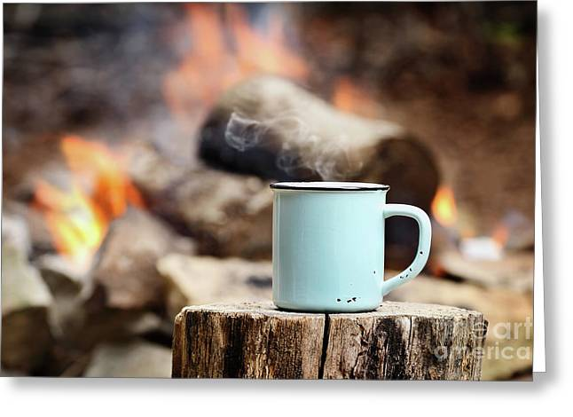 Campfire Coffee Greeting Card