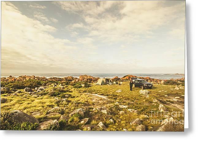 Camping, Driving, Trekking Greeting Card