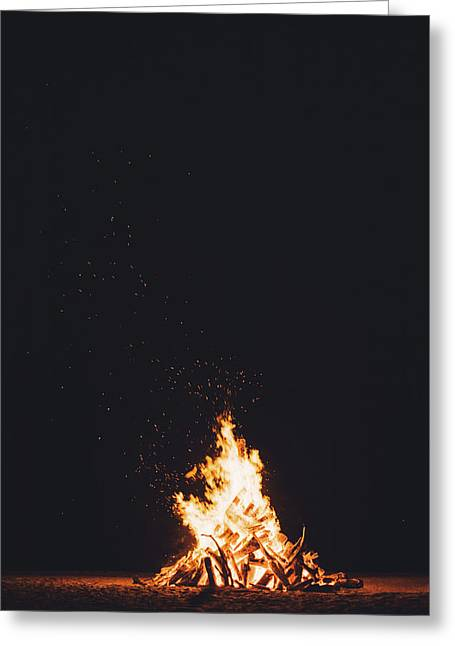 Camping Fire Greeting Card