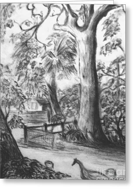 Greeting Card featuring the drawing Camping Fun by Leanne Seymour