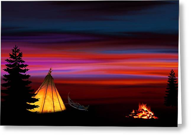 Camping Greeting Card by Art Spectrum