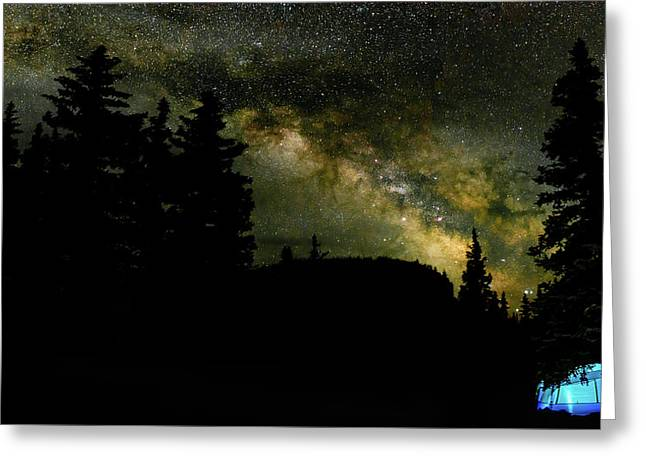 Camping Under The Milky Way 2 Greeting Card