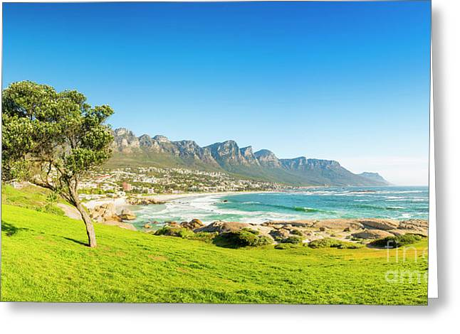 Camps Bay In Cape Town, South Africa Greeting Card by Tim Hester