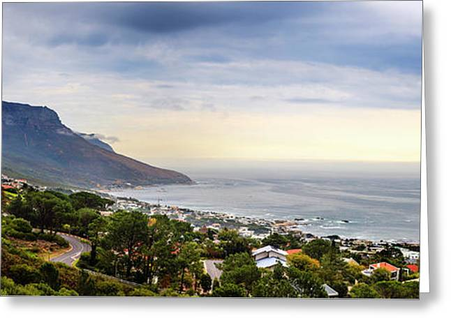 Camps Bay Panorama Greeting Card by Alexey Stiop