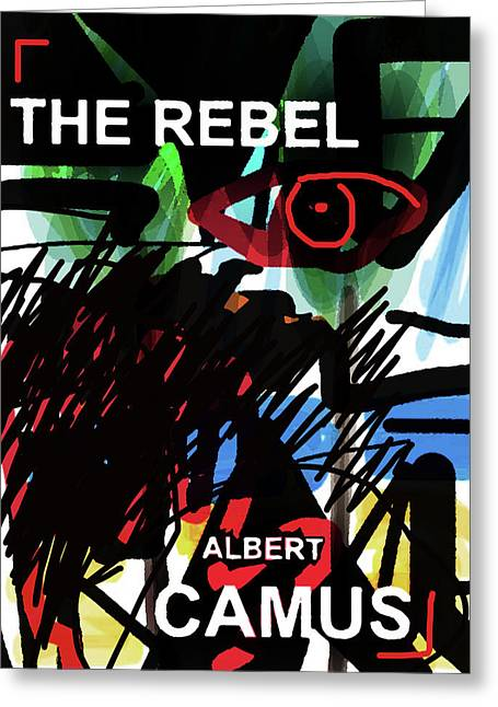 Camus The Rebel  Poster Greeting Card