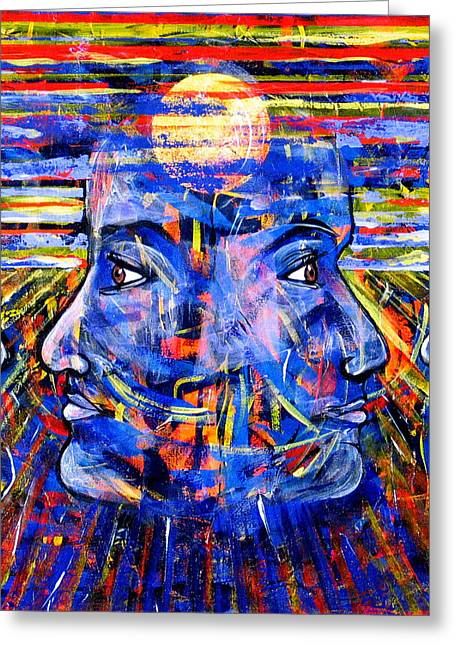 Self-knowledge Paintings Greeting Cards - Can Not Life A Lie Greeting Card by Rollin Kocsis