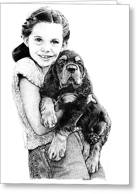 Can We Keep Him Greeting Card by Carole Raschella