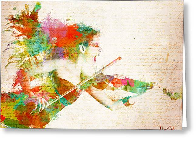 Music Lover Digital Greeting Cards - Can You Hear Me Now Greeting Card by Nikki Smith