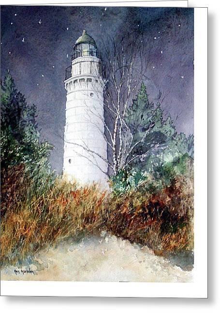 Cana Island Light House Greeting Card