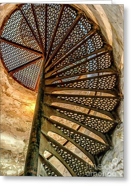Cana Island Lighthouse Staircase Greeting Card