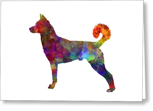 canaan dog in watercolor greeting card - Dog Greeting Cards