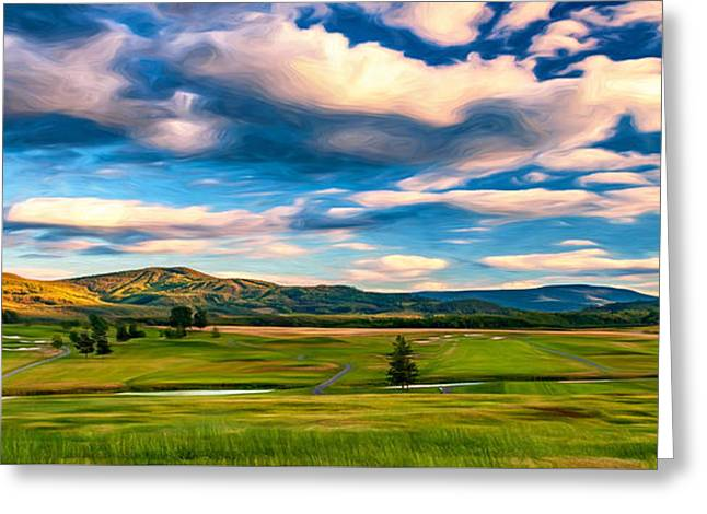 Canaan Valley Golf And Ski Resort - Paint Greeting Card by Steve Harrington