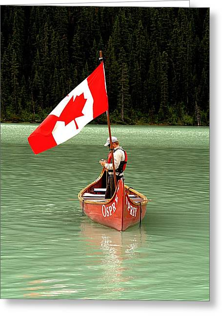 Greeting Card featuring the photograph Canada Day... by Al Fritz