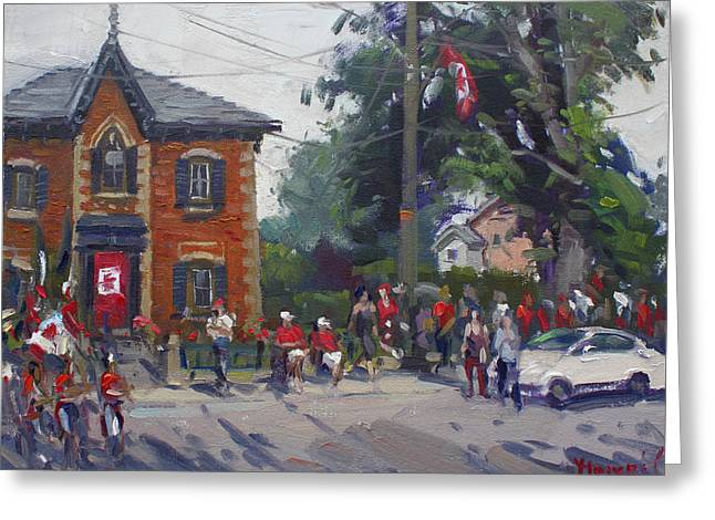 Canada Day Parade At Glen Williams  On Greeting Card