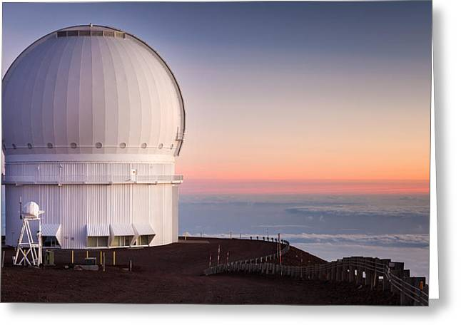 Canada-france-hawaii Telescope Greeting Card by Thorsten Scheuermann