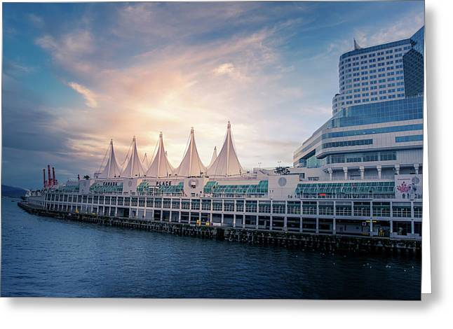 Canada Place Greeting Card by Art Spectrum