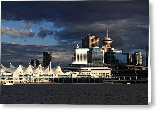 Canada Place Vancouver City Greeting Card by Pierre Leclerc Photography