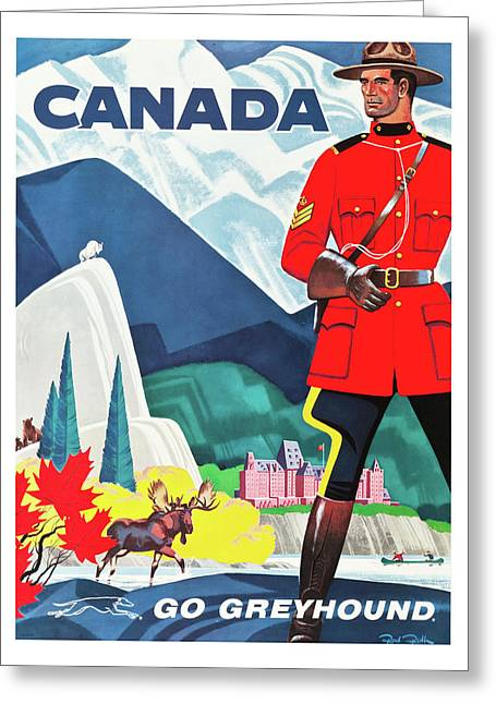 Canada Travel Poster Greeting Card by Long Shot