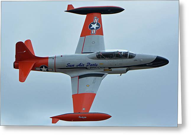 Canadair Ct-133 Silver Star Nx377jp Pacemaker Chino California April 30 2016 Greeting Card by Brian Lockett