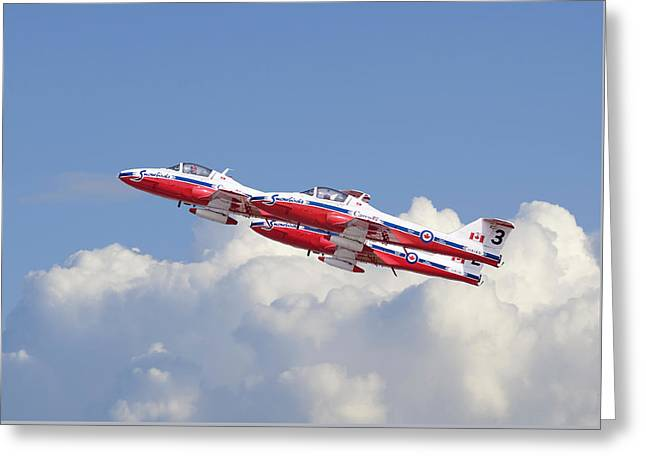 Canadian Air Force Aerobatic Team - Snowbirds Greeting Card by Pat Speirs