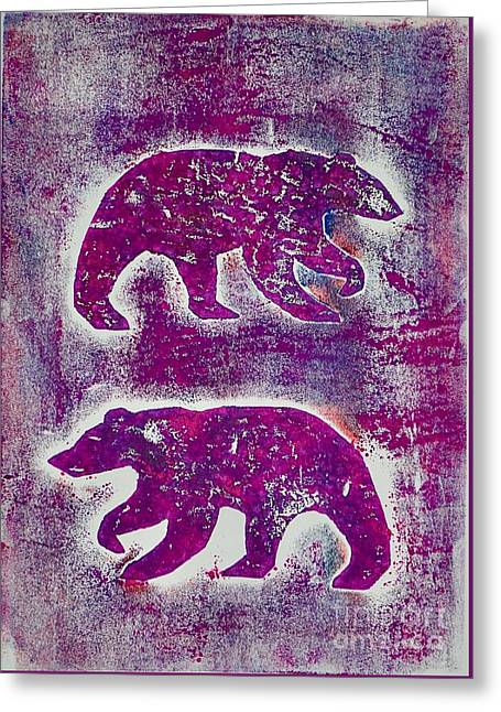 Canadian Bears Pink  Greeting Card