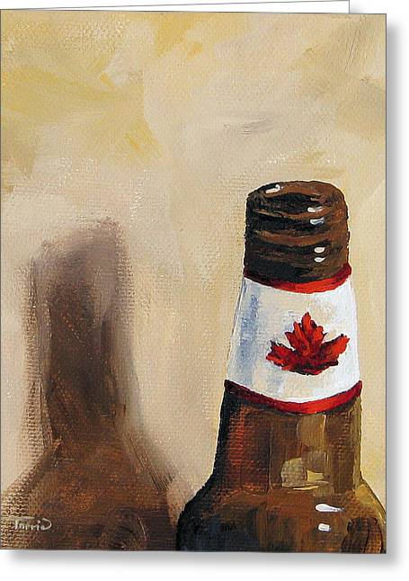 Canadian Beer Greeting Card by Torrie Smiley